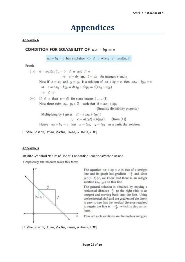 Amal Dua - Extended Essay in Mathematics