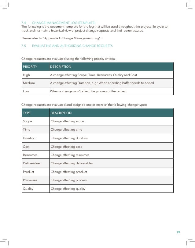Project Management Plan Cafe Au LaitPDF - Project deliverables template