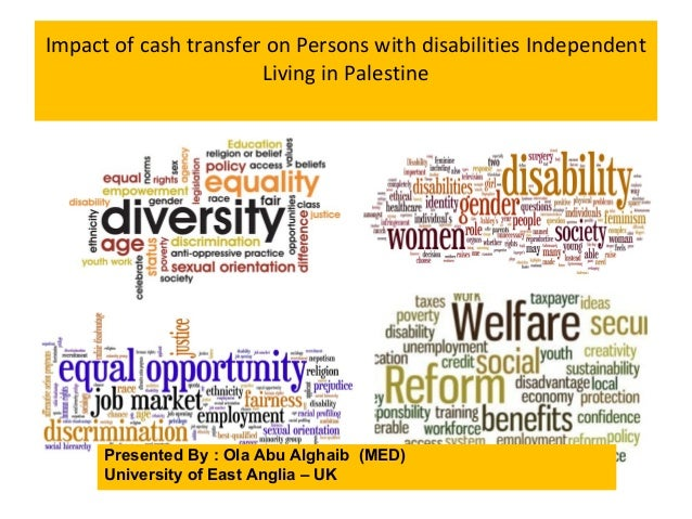 Impact of cash transfer on Persons with disabilities Independent Living in Palestine Presented By : Ola Abu Alghaib (MED) ...