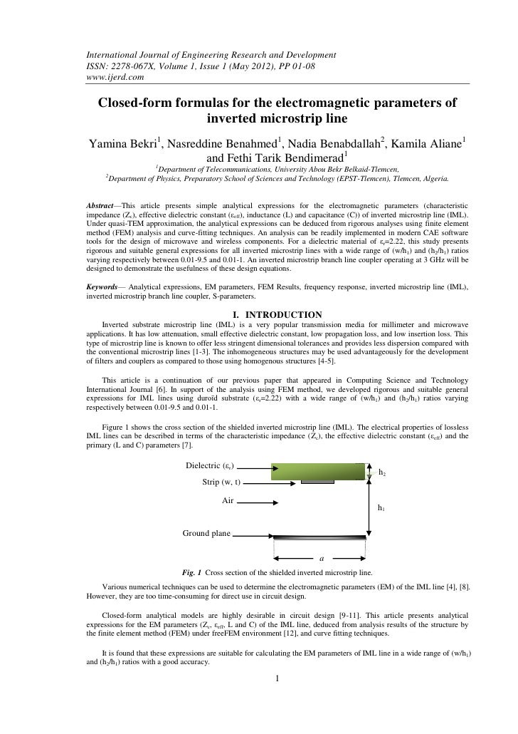 International Journal of Engineering Research and DevelopmentISSN: 2278-067X, Volume 1, Issue 1 (May 2012), PP 01-08www.ij...