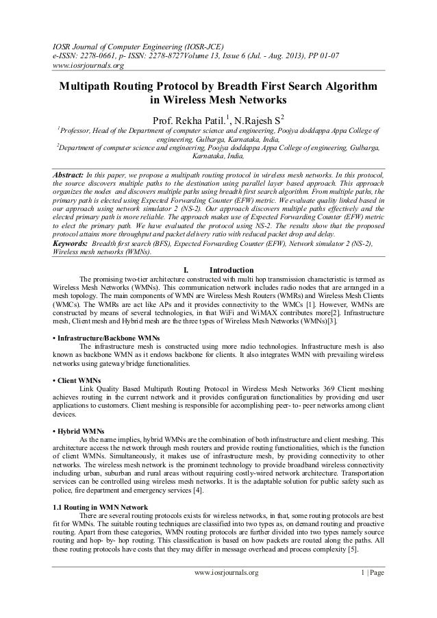 IOSR Journal of Computer Engineering (IOSR-JCE) e-ISSN: 2278-0661, p- ISSN: 2278-8727Volume 13, Issue 6 (Jul. - Aug. 2013)...
