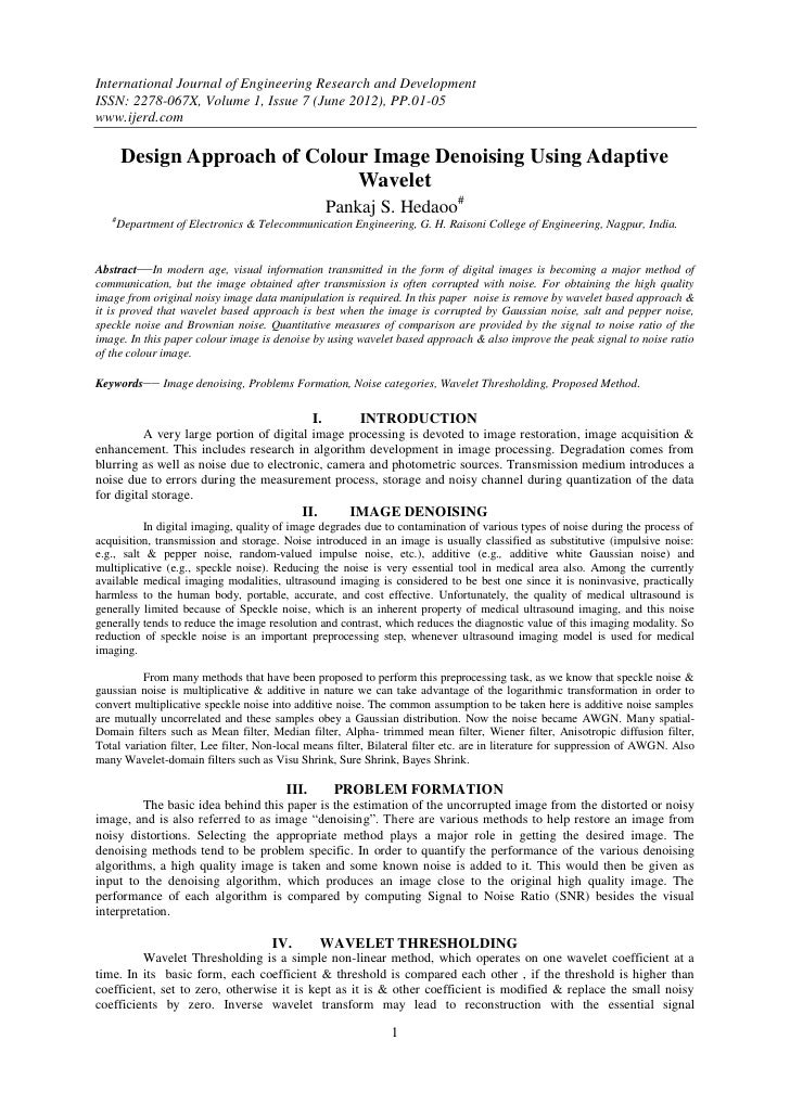 International Journal of Engineering Research and DevelopmentISSN: 2278-067X, Volume 1, Issue 7 (June 2012), PP.01-05www.i...