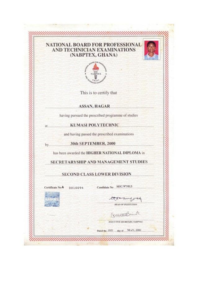 hnd certificate