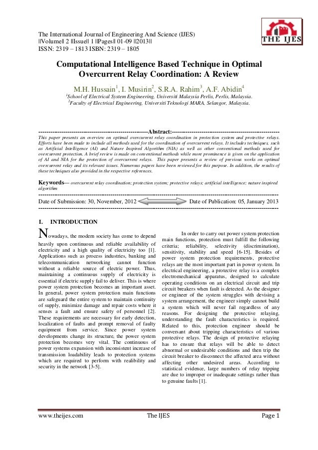 The International Journal of Engineering And Science (IJES)||Volume|| 2 ||Issue|| 1 ||Pages|| 01-09 ||2013||ISSN: 2319 – 1...