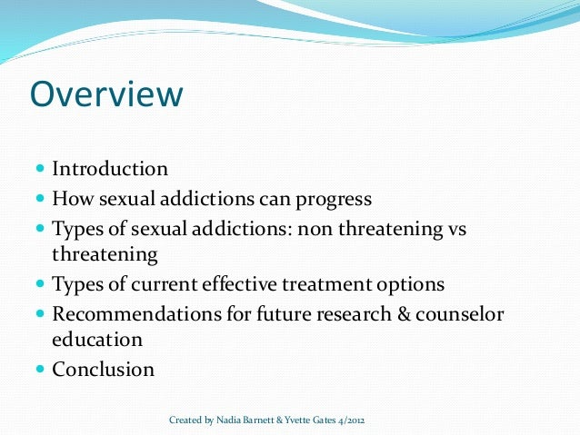 types of sexual addictions about