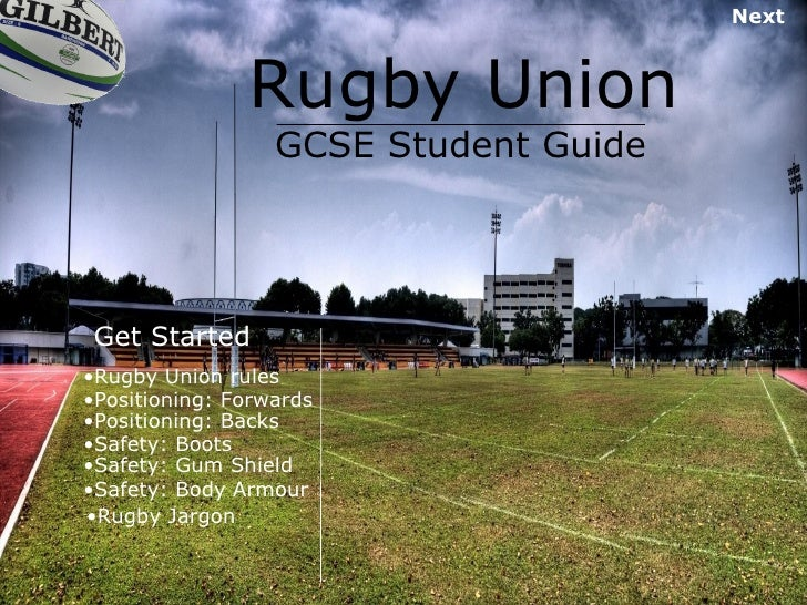 Rugby Union GCSE Student Guide Get Started