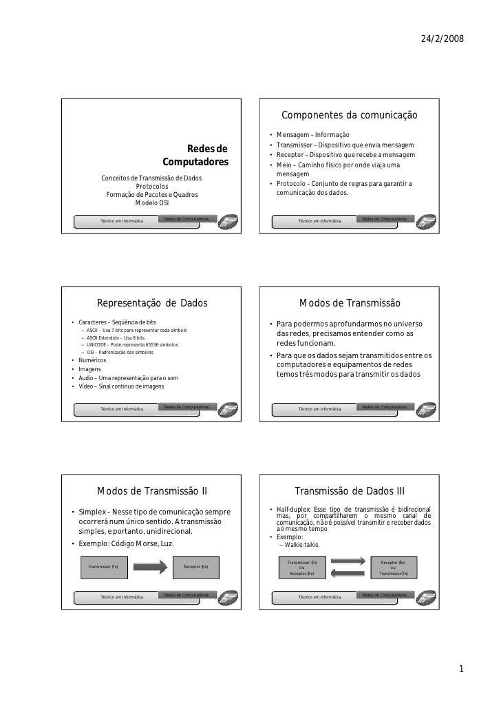 Componentes da comunicação                                                                       • Mensagem – Informação  ...