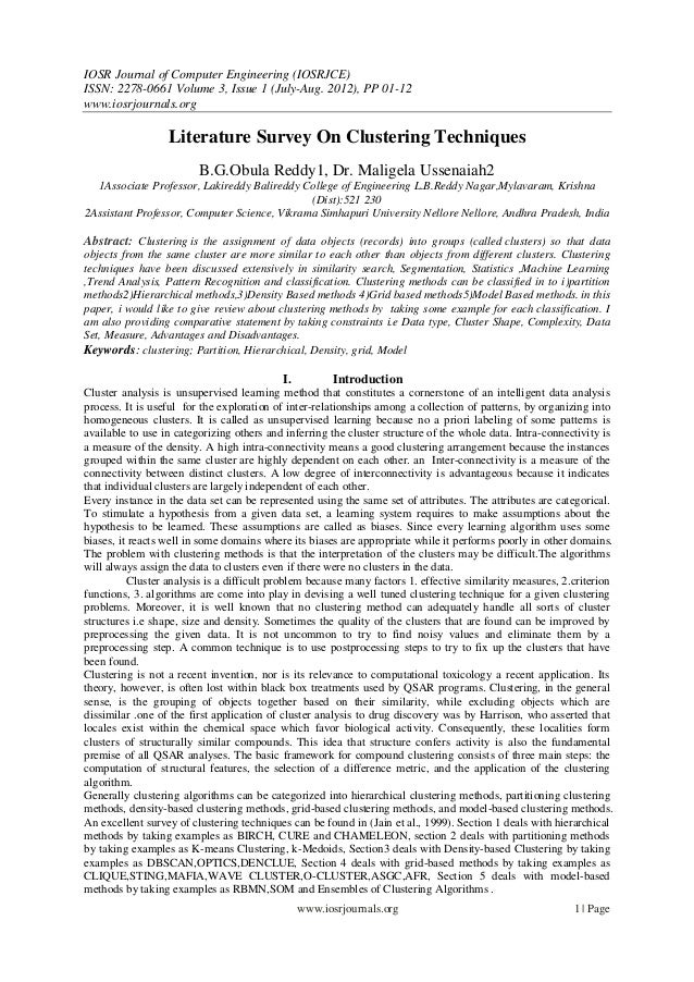 IOSR Journal of Computer Engineering (IOSRJCE) ISSN: 2278-0661 Volume 3, Issue 1 (July-Aug. 2012), PP 01-12 www.iosrjourna...