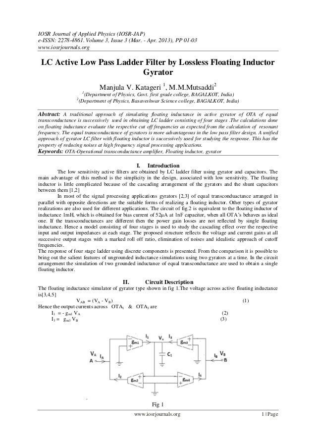 IOSR Journal of Applied Physics (IOSR-JAP)e-ISSN: 2278-4861. Volume 3, Issue 3 (Mar. - Apr. 2013), PP 01-03www.iosrjournal...