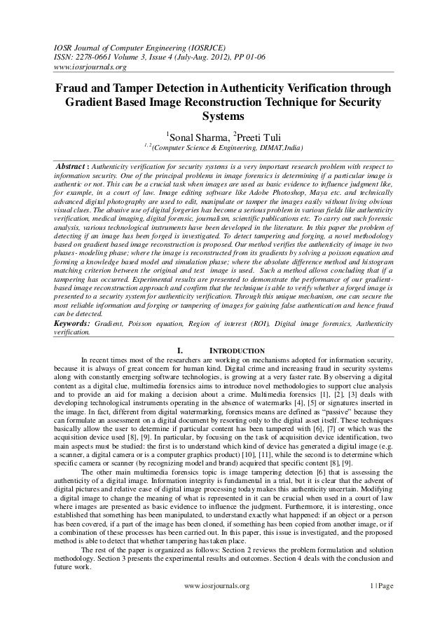 IOSR Journal of Computer Engineering (IOSRJCE) ISSN: 2278-0661 Volume 3, Issue 4 (July-Aug. 2012), PP 01-06 www.iosrjourna...