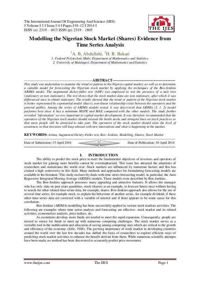 The International Journal Of Engineering And Science (IJES) || Volume || 3 || Issue || 4 || Pages || 01-12 || 2014 || ISSN...