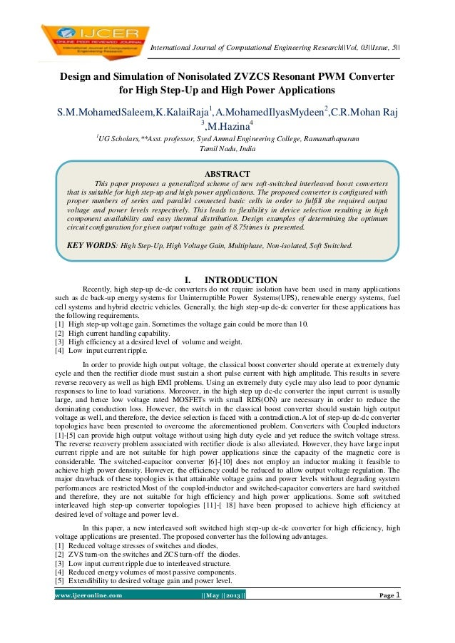 International Journal of Computational Engineering Research||Vol, 03||Issue, 5||www.ijceronline.com ||May ||2013|| Page 1D...