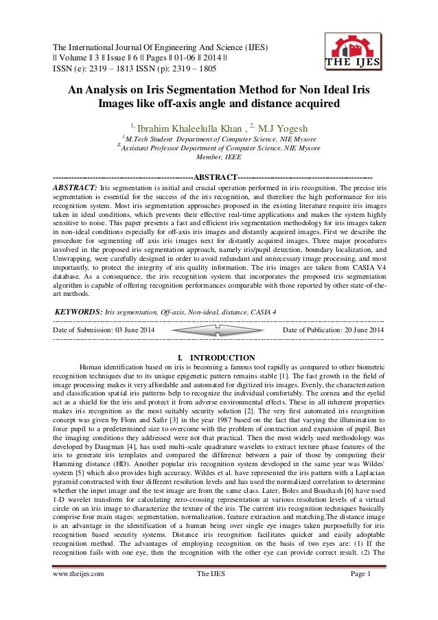 The International Journal Of Engineering And Science (IJES) || Volume || 3 || Issue || 6 || Pages || 01-06 || 2014 || ISSN...