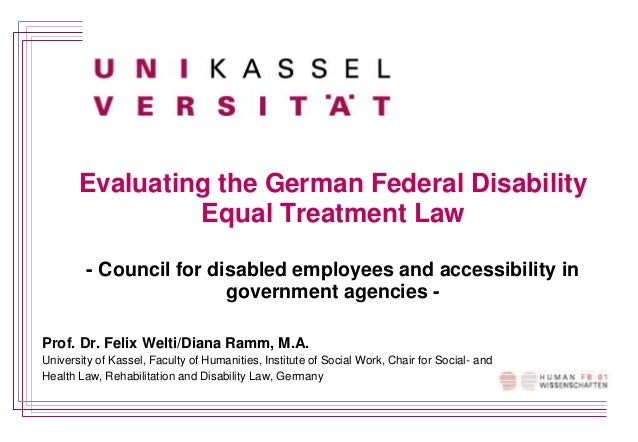 Evaluating the German Federal Disability Equal Treatment Law - Council for disabled employees and accessibility in governm...