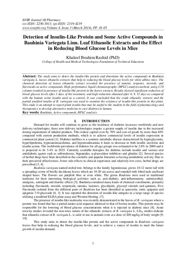 IOSR Journal Of Pharmacy (e)-ISSN: 2250-3013, (p)-ISSN: 2319-4219 www.iosrphr.org Volume 4, Issue 3 (March 2014), PP. 01-0...