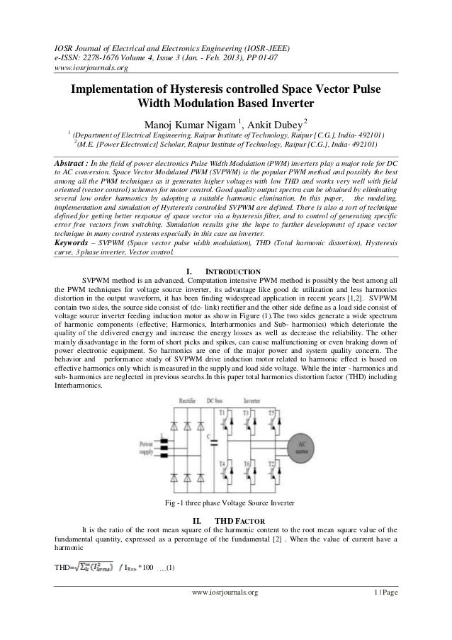 IOSR Journal of Electrical and Electronics Engineering (IOSR-JEEE)e-ISSN: 2278-1676 Volume 4, Issue 3 (Jan. - Feb. 2013), ...