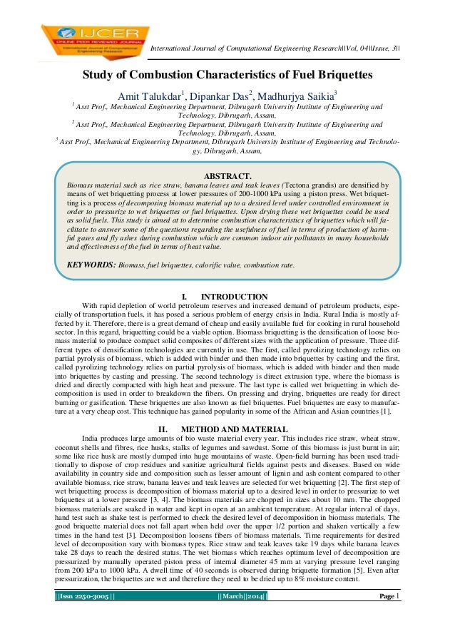 International Journal of Computational Engineering Research||Vol, 04||Issue, 3||  Study of Combustion Characteristics of F...