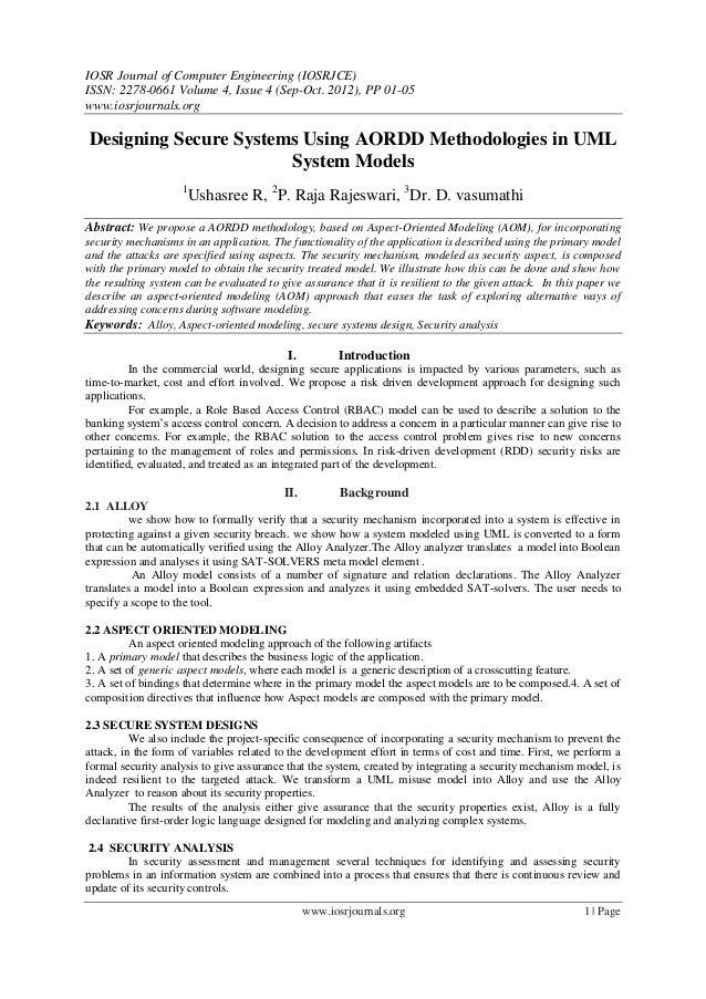 IOSR Journal of Computer Engineering (IOSRJCE) ISSN: 2278-0661 Volume 4, Issue 4 (Sep-Oct. 2012), PP 01-05 www.iosrjournal...