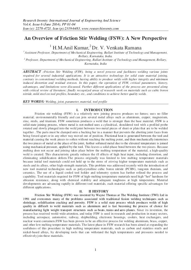 Research Inventy: International Journal of Engineering And Science Vol.4, Issue 6 (June 2014), PP 01-04 Issn (e): 2278-472...