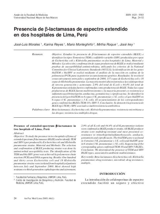 Anales de la Facultad de Medicina                       José-Luis Morales et al.                                 ISSN 1025...
