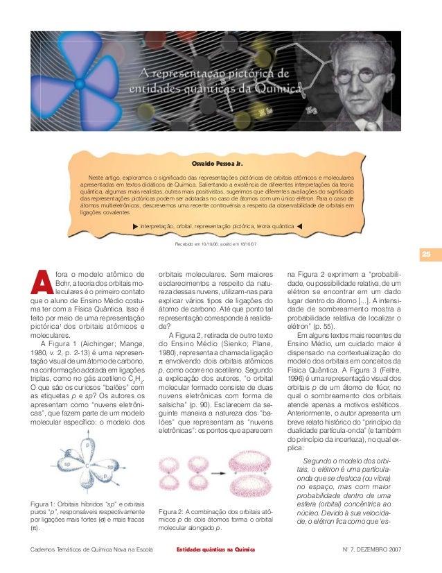 Recebido em 10/10/06; aceito em 18/10/07  Cadernos Temáticos de Química Nova na Escola N° 7, DEZEMBRO 2007  25  Entidades ...