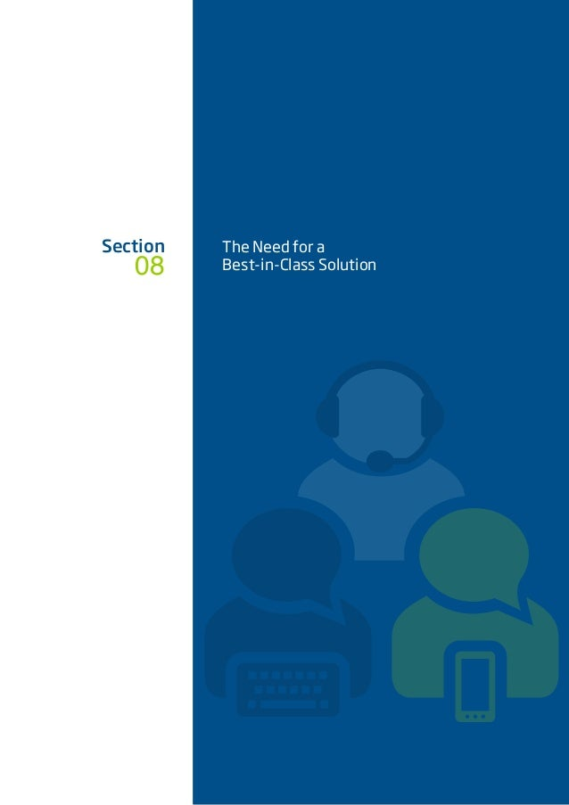 08 Section The Need for a Best-in-Class Solution