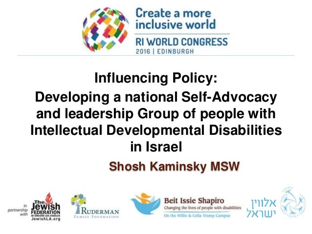 Influencing Policy: Developing a national Self-Advocacy and leadership Group of people with Intellectual Developmental Dis...