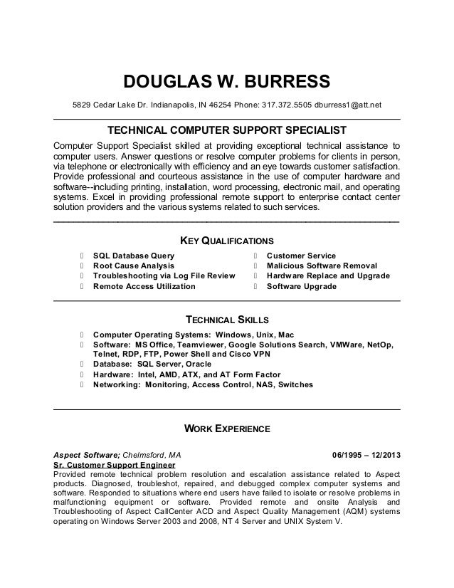 doug burress updated targeted resume templatev3 douglas w burress 5829 cedar lake dr indianapolis in 46254 phone 317372