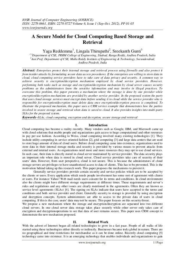 IOSR Journal of Computer Engineering (IOSRJCE) ISSN: 2278-0661, ISBN: 2278-8727 Volume 6, Issue 1 (Sep-Oct. 2012), PP 01-0...