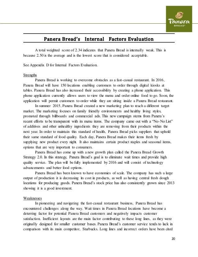 Panera Bread Resume Sample