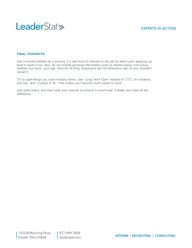 leaderstat-resume-tips