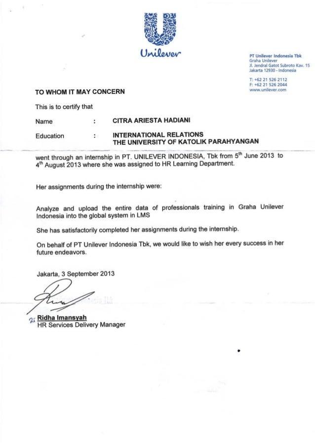Reference Letter Hr
