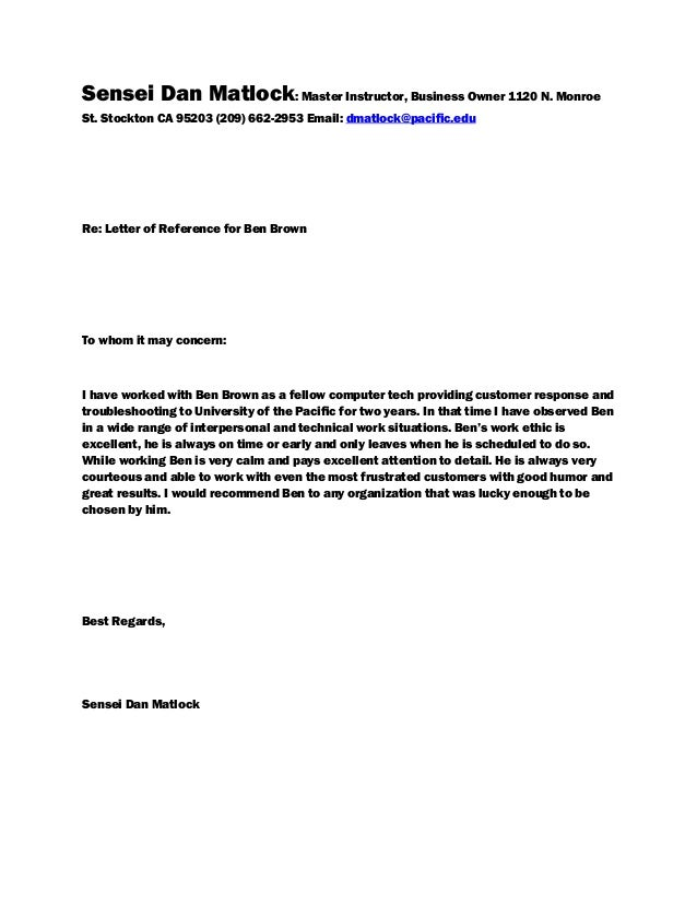 Reference Letter 2 1 – Business Reference Letter