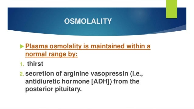 estimating osmolarity by change in volume As a function of volume osmolarity cannot be dilution factor to calculate the osmolality of volume of a solute is the change in volume of a.