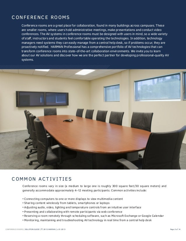 CONFERENCE ROOMS | SOLUTION GUIDE ... Part 33