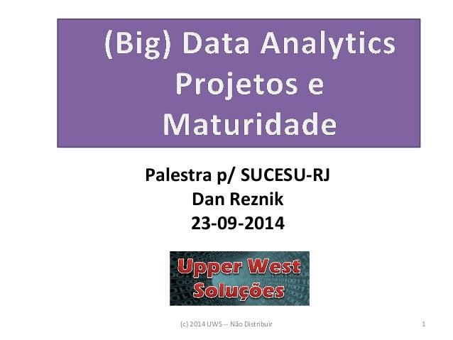 (c) 2014 UWS -- Não Distribuir  1  Palestra p/ SUCESU-RJ  Dan Reznik  23-09-2014