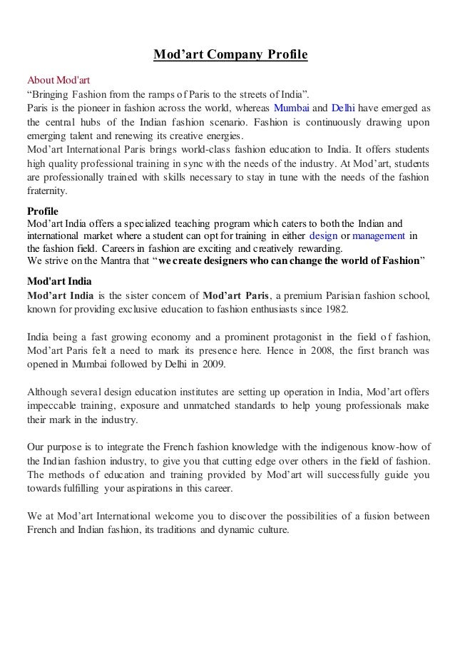 Mod Art Company Profile