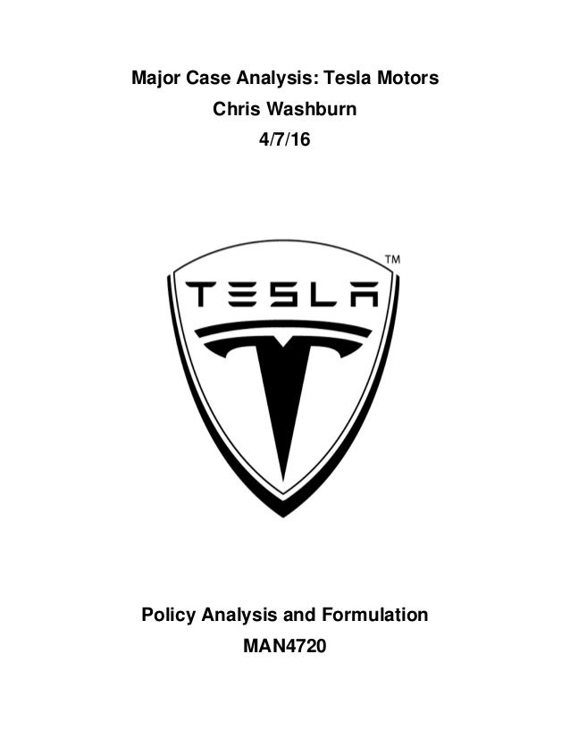 tesla motors case analysis Free essay: tesla motors introduction tesla motors, inc is a palo alto, ca based company that designs, manufactures, and sells electric luxury cars and.