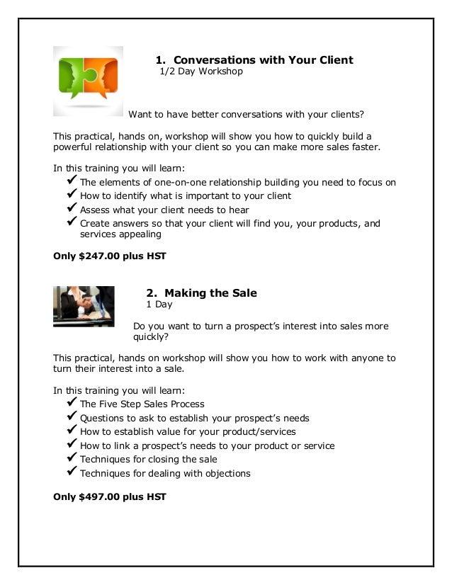 Sales Training Brochure