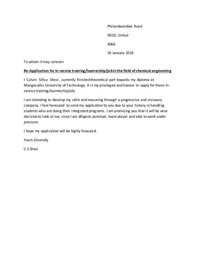 covering letter for sapref