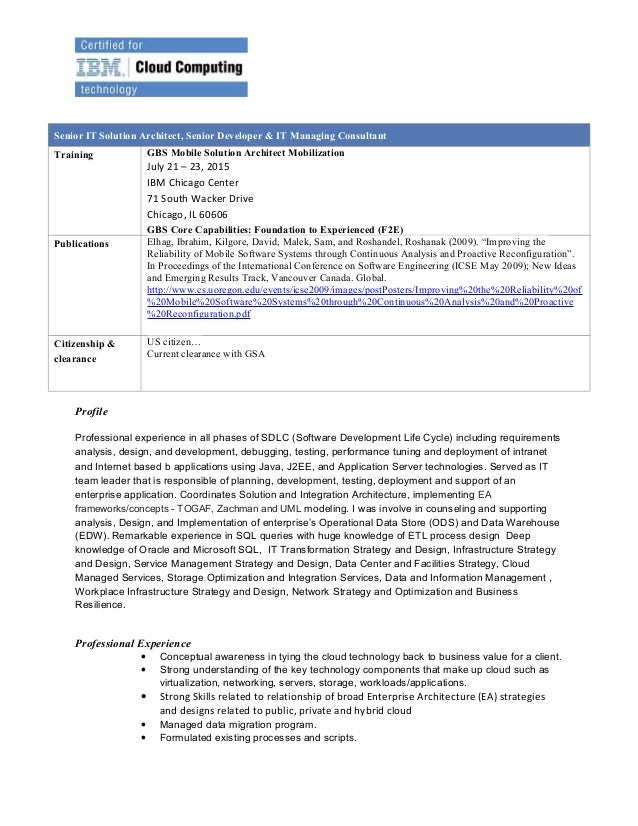 profile portion of resumes