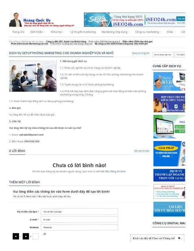 Các công cụ Marketing nên có ngay: Công cụ Bắt SĐT, Email của Khách hàng Phần mềm SMS Marketing giá rẻ Phần mềm CRM siêu n...