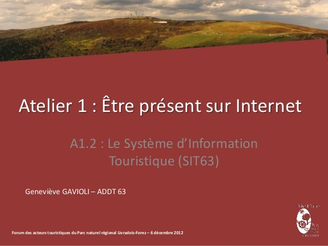 Atelier 1 : Être présent sur Internet                              A1.2 : Le Système d'Information                        ...