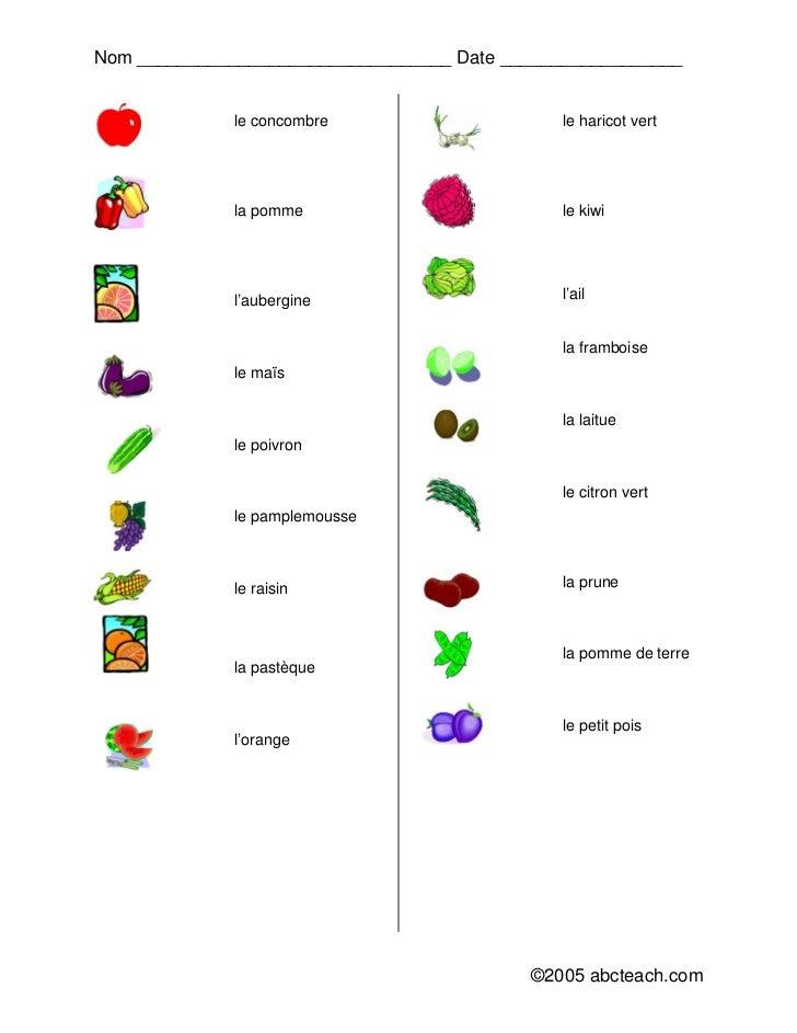 A1_exercices_vocabulaire_les_légumes Slide 2