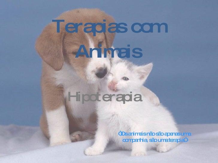 """Terapias com Animais Hipoterapia   """" Os animais não são apenas uma companhia, são uma terapia"""""""
