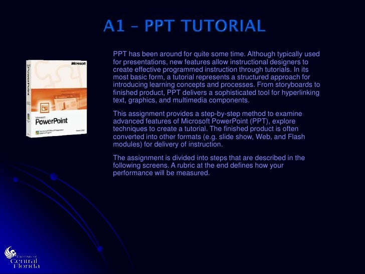 A1 ppt tutorial