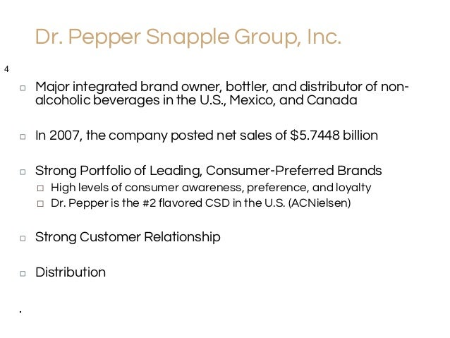 snapple case study solution Case studies share this  dr pepper snapple we're in your soda.