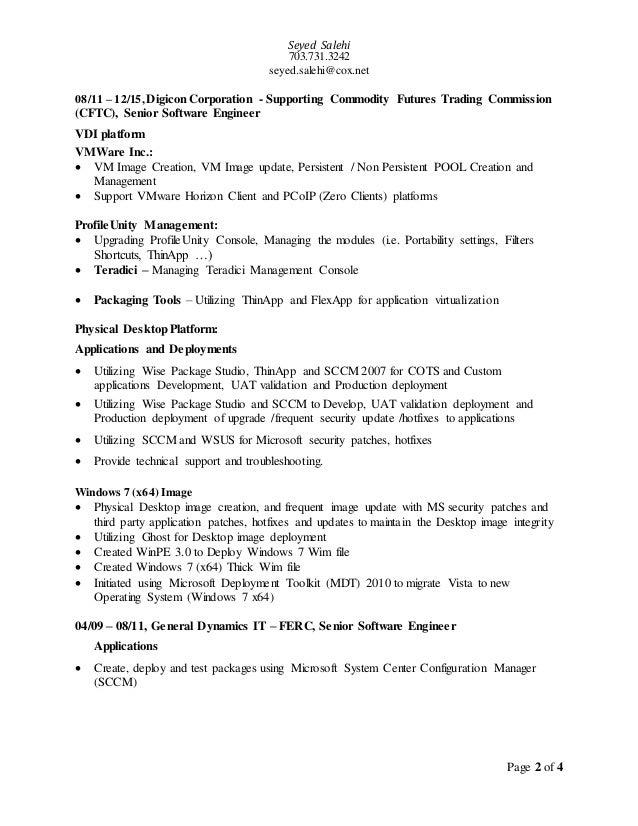 Seyed Salehi 703.731.3242 seyed.salehi@cox.net Page 2 of 4 08/11 – 12/15, Digicon Corporation - Supporting Commodity Futur...