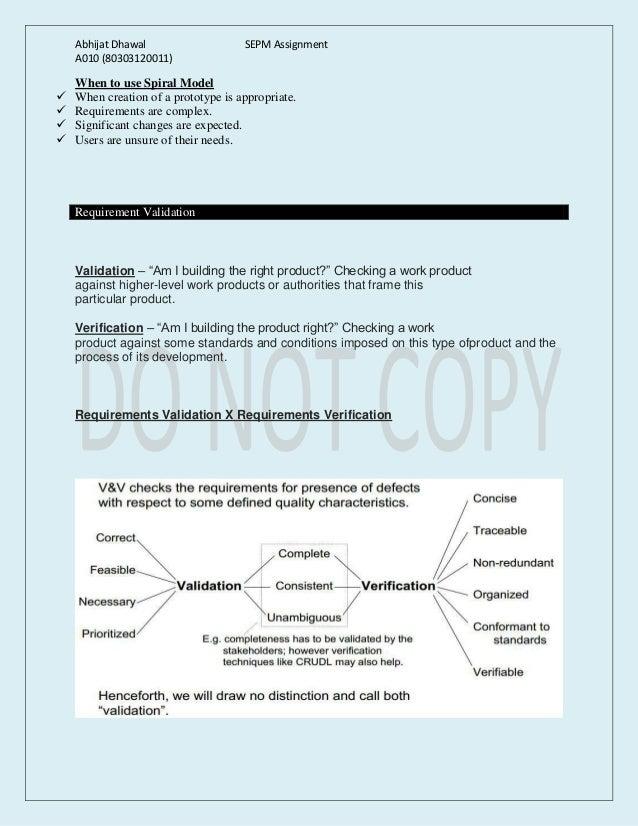 Spiral Model & Requirement Validation Slide 3