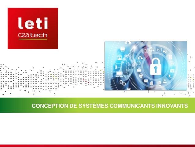 CONCEPTION DE SYSTÈMES COMMUNICANTS INNOVANTS